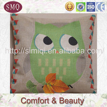 linen air stability wobble cushion hand embroidery cushion cover with words