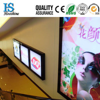 wall mounted snap open led advertising light box,a4,20mm