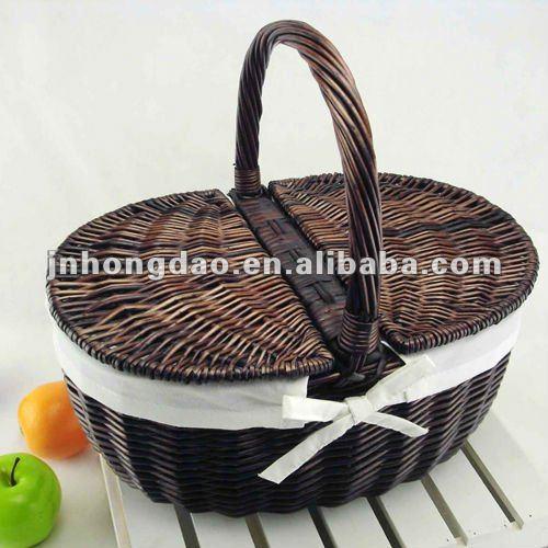 Picnic Basket Jakarta : Empty wicker picnic baskets wfb buy basket