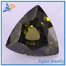 fat triangle cut olive loose cz gemstone for ring jewelry