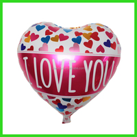 Decorate room helium gas love heart foil balloon stores