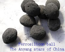 china manufacturer supply ball shape ferro silicon to steel mill