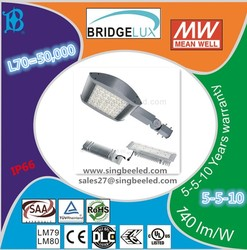 120W LED street light with Meanwell driver 5 years warranty IP66 L70=50000hours UL DLC ENEC CE ROHS ErP