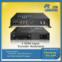 Converting HD A/V signals to DVB-T RF out IP encoder modulator