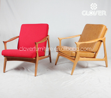 hotel furniture modern wooden italy leather armchair