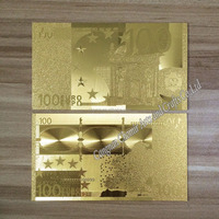 arts and crafts special busniess gift 24k 100 euro banknote