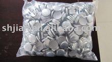 aluminum cover button