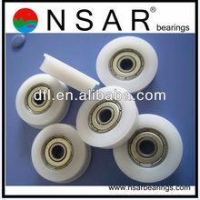 performance plastic bearings used in door roller 608 626 shower door roller bearing