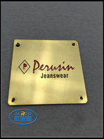 custom gold metal logo plate,small metal logo name plate