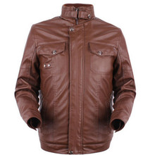 men's classic blazer leather coat denim jacket leather sleeves