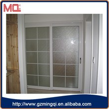 hot sale pvc frosted glass malaysian doors with grill design for bathroom