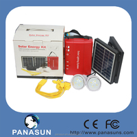 Solar LED Home Lighting System with two pcs led light and double solar panel