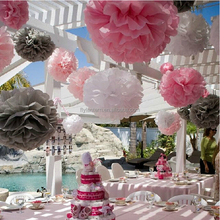 Wholesale Eco tissue paper flowers/hanging paper flower ball/paper pom poms for event & party