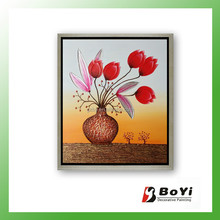 2015 Simple Flower Paintings,Ready to Hang Pictures Flower Oil Painting Gallery