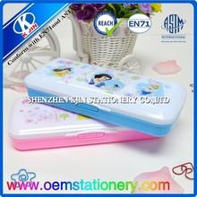 kids plastic pencil case/snow white princess pencil case/cute pencil case