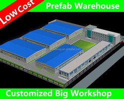 warehouse layout /metal workshop /steel warehouse