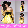 wholesale sexy yellow shiny carnival nude cosplay costumes