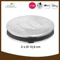 Elegant stainless steel recessed travel hotel soap dish