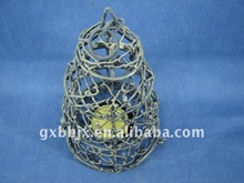Gold wire tower shaped decorative candle lantern craft