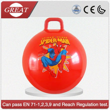 Kids jumping bouncy ball with handle