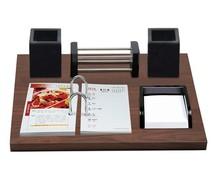 Promotional Wooden Calendar Stand , handmade calendar with calendar printing double pen pot