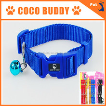 Navy dog training collars with plated bells 2.5 width OEM ODM logo 10 colors
