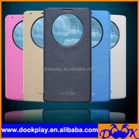 Ultra thin Circle Window Flip case for LG G3 Optimus Mobile Phone Auto wake up and sleep