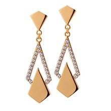 2015 latest fashion design crystal drop earring