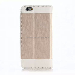 Custom Leather case For iphone 6s flip Genuine leather case China Factory direct supply