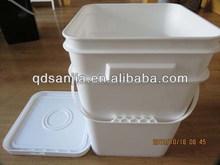 5 gallon plastic square pails plastic bucket storage pail rectangular barrel