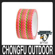 Green colored stripes print duct tape for wholesale