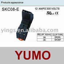 electrical plug relay socket SKC08-E