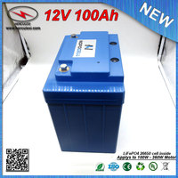 LiFePO4 12V 100Ah Lithium iron Phosphate battery Pack / Lipo 12V 100Ah UPS Battery with 30A BMS 3.2V 3.3Ah cell FREE SHIPPING