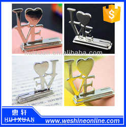 2015 fancy design LOVE place card holder Alloy card holder as wedding souvenir gifts