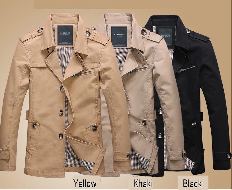 4 цветные длинные моды плюс размер 6xl 5xl 4xl xxxl м хлопок Мужские пальто весна/осень случайные свободные открытый мужские куртки