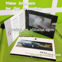 "Top sales video greeting card 2.4"", 2.8"" , 3.5"", 4.3"" and 7"" / LCD TFT 512MB leather video greeting card/ 2014 popular LCD Card"