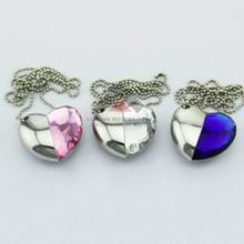 Diamond Heart Shaped Jewelry USB Flash Drive