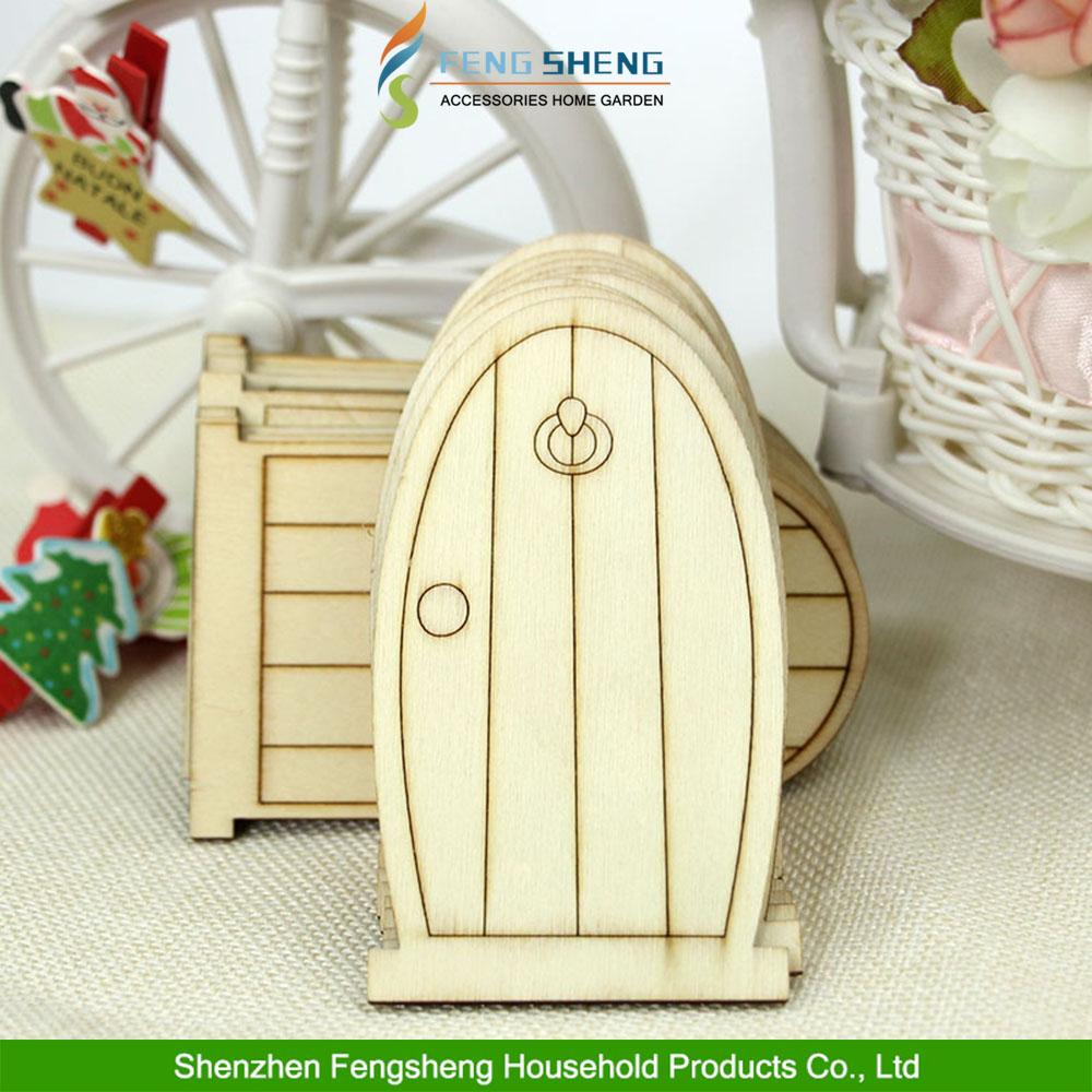 Ongeverfd plaque laser gesneden houten deuren fee faerie elf met ...