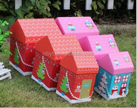Customise Special Colored paper house top-grade toy packaging box