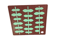 Food Grade Cute Green leaf decoration non-stick silicone coaster with factory price