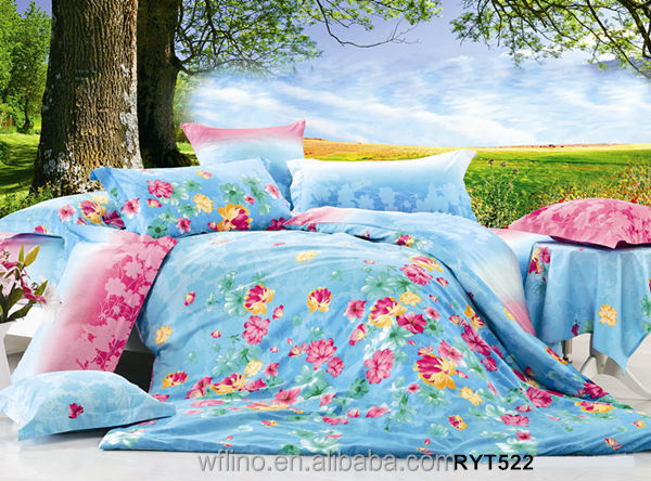 Cotton Bright Colorful Floral Home forter Bedding