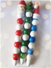 Christmas santa clausl sticker promotion ballpoint pen & advertising pen for malls CH-6504