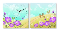 Customizable designs fashion home wall decor melting clock
