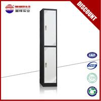 Modern design 2 door metal locker / double tier metal locker / double door metal wardrobe