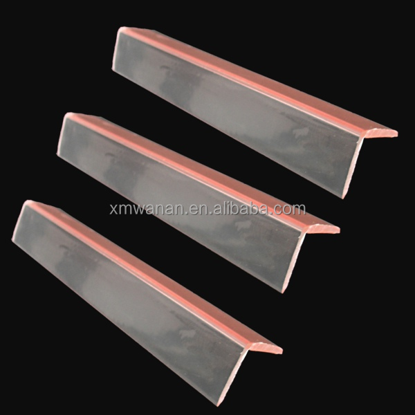 Right Angle 90 Degree Clear Acrylic Plastic Table Edge
