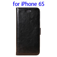 Multifunctional PU Leather wallet flip cover case for iPhone 6S made in China