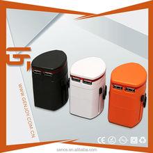 Multi pin plug sockets male/female plug and socket,5v 2a usb travel charger for travelor,2usb UK / Eu / US / AU Plug