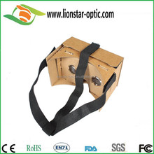 Wholesale colorful vr box , new invention custom google cardboard box barbie vr 3d glasses , new cardboard phone vr glasses