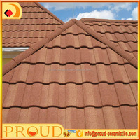 Construction material stone coated Roman style metal roof tile