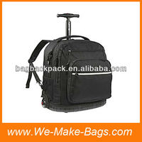 600D external portable trolley bag with backpack straps